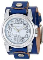 Nemesis Women's LBT069S Trendy Collection White on Blue Leather Band Watch