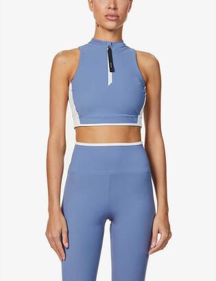 Vaara Parker zip-front stretch-jersey top