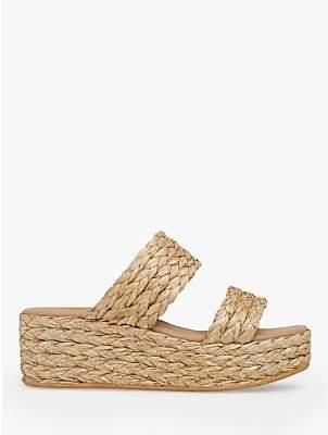 LK Bennett L.K.Bennett Willa Woven Flatform Sandals, Natural