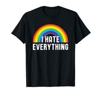tk.TAKEO KIKUCHI Funny Slogan Shirts By I Hate Everything Ironic Rainbow Funny Saying Phrase Graphic T-Shirt