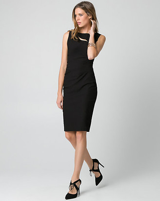 Le Château Tech Stretch Boat Neck Shift Dress