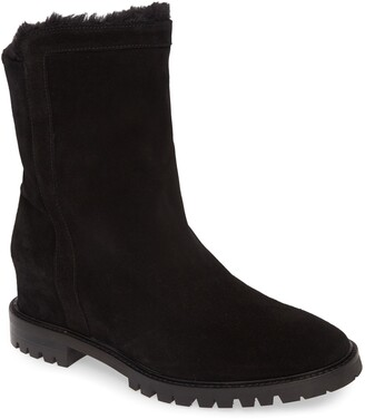 Aquatalia Cate Faux Fur Lined Weatherproof Leather Boot