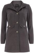 Dorothy Perkins Grey funnel neck coat