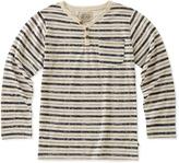 Lucky Brand Birch & Gray Stripe Long-Sleeve Henley - Toddler & Boys