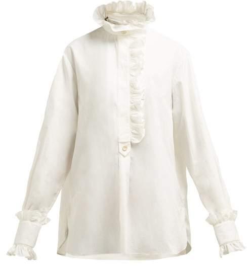 e791c67a9f5 Ruffle Poplin Shirt - ShopStyle