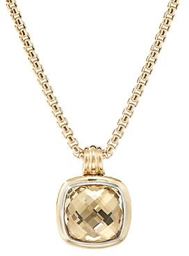 David Yurman Sterling Silver & 18K Yellow Gold Albion Champagne Citrine Pendant