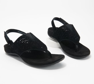 Vionic Perforated T-Strap Sandals - Nikki