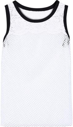Philosophy di Lorenzo Serafini Corded Lace-paneled Mesh Tank