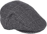 John Lewis Classic Check Flat Cap, Grey