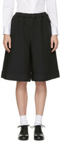 Comme des Garcons Black Oversized Cuffed Shorts