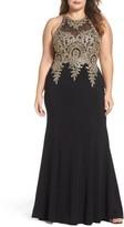 Xscape Evenings Plus Size Women's Embellished Mermaid Gown