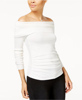 Hooked Up by IOT Juniors' Off-The-Shoulder Ruched Sweater
