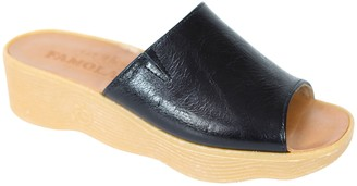 Famolare Get There Leather Wedge Sandal - SlideN Seek