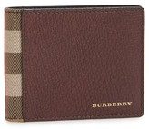Burberry Men's Check Leather Wallet - Red