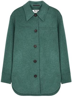 Acne Studios Otty teal wool jacket