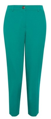 Dorothy Perkins Womens Dp Petite Green Emerald Elastic Ankle Grazer Trousers, Green