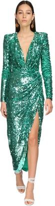 ZUHAIR MURAD Sequined Midi Dress