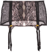 Heidi Klum Intimates Olympia Lashes Stretch-Tulle And Lace Suspender Belt
