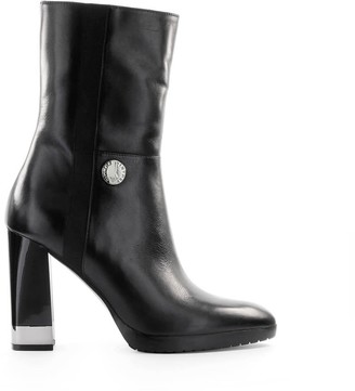 Emporio Armani Black Leather Ankle Boot