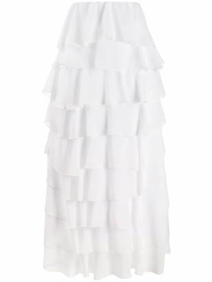Soallure Tiered Maxi Skirt