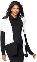 Colorblock Maternity Cardigan