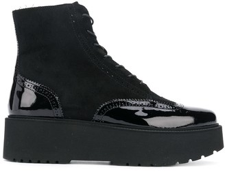 Hogan lace-up platform boots