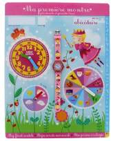Baby Watch Watch-Abc Magic Baby Girl's Watch Analogue Quartz way 3-6 years, Blue Plastic Strap Pink Dial