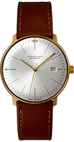 Junghans 027/7700.00 Max Bill Automatic Stainless Steel Leather Strap Watch, Camel/silver