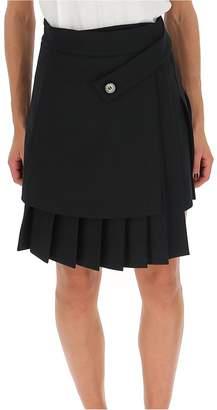 Off-White Off White Asymmetric Pleated Wrapped Mini Skirt