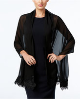 Calvin Klein Lace-Trim Evening Wrap