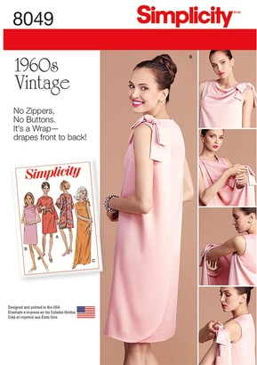 Simplicity Women's Vintage Dress Sewing Patter, 8049