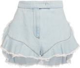 Giamba Frayed Denim Shorts