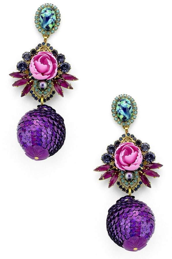 Elizabeth Cole Octavia Drop Earrings
