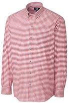 Cutter & Buck Men's Long Sleeve White Sage Check Shirt