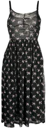 Sandy Liang Flared Floral-Print Dress