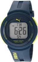 Puma Quartz Plastic and Polyurethane Watch, Color:Blue (Model: PU911101003)