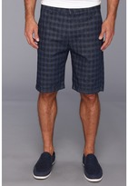 7 For All Mankind Chino Short in Indigo Woven Plaid