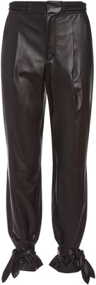 Alice + Olivia Ivette Leather Braided Belt Pant