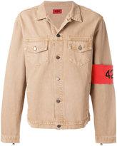 424 Fairfax arm band denim jacket