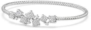 David Yurman Petite Châtelaine 18K White Gold Bracelet with Diamonds, Size S