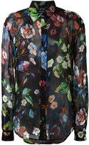 Anthony Vaccarello floral print button down shirt - women - Silk - 36