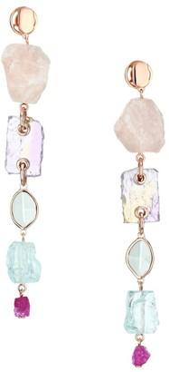 Monica Vinader 18K Rose Gold Vermeil & Multi-Stone Linear Earrings
