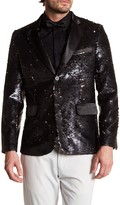 TR Premium Reversible Sequin Slim Fit Blazer