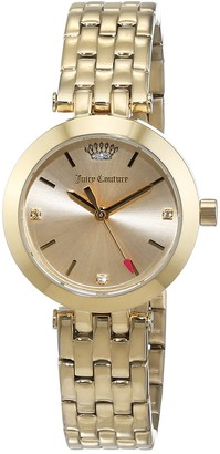 Juicy Couture Women's Analogue Quartz Watch with Stainless Steel Gold Plated Strap 1901459