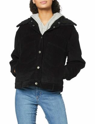 Urban Classics Women's Ladies Oversized Corduroy Sherpa Jacket Denim