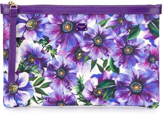 Dolce & Gabbana Anemone Print Clutch Bag