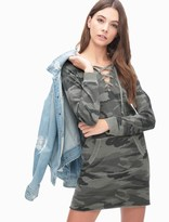 Splendid Camo Active Sweatshirt Dress