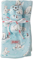 Cath Kidston Small Polar Bear Pram Blanket with Rattle