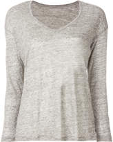 Majestic Filatures knitted v-neck top
