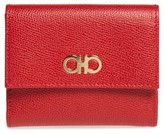 Salvatore Ferragamo Women's Gancini Leather Wallet - Red